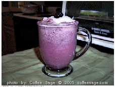 Blackberry Summer Dream Coffee Drink